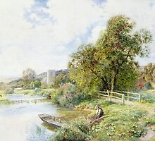 The Young Angler by Bridgeman Art Library
