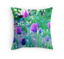 Tulip Mania Throw Pillow