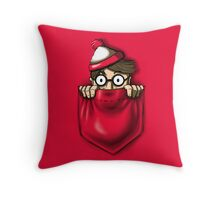 Right Under Your Nose Throw Pillow