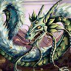 Sky Dragon Pillow by cybercat