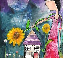 Sunflowers Bless My Home by F. Magdalene Austin