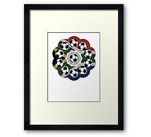 South African Football Flower Framed Print