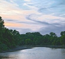 Sundown on the Racoon River by designingjudy