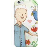 Sir David Attenborough & a Parrot iPhone Case/Skin