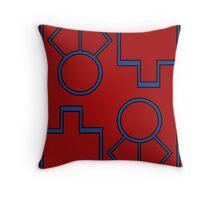 Groudon Minimal Pattern Throw Pillow