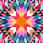Triangles 2 abstract tribal pattern by mikath