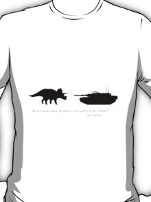 Lonely Dinosaur Meets Tank T-Shirt
