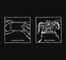 Likes Shooting (white ink for dark background) by strayfoto