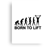 Evolution weightlifting Canvas Print