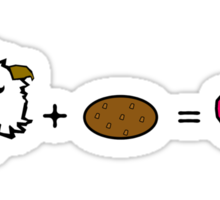 Poro + Cookie = <3 wihout text [League of legends] Sticker