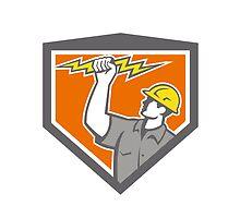 Electrician Wield Lightning Bolt Side Crest by patrimonio