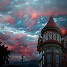 VICTORIAN MANSION CALIFORNIA SKY by Larry Butterworth