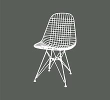 Eames Wire Chair - Inverted by greenbirdpress