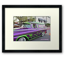 Danny (the count )Koker G ride in front of his club  vampd sweet ride  Framed Print