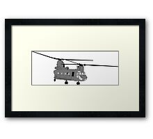 Chinook Helicopter Image Framed Print