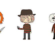 Horror Guys by katiesdoodles