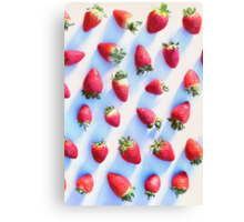 Sunset Strawberries Canvas Print