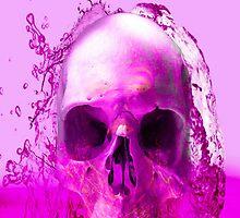 Purple Skull in Water by Icarusismart