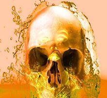 Golden Skull in Water by Icarusismart