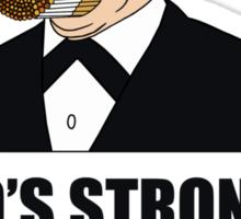 Who's Stronger Birdman?! Sticker