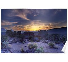 North west Palomino Valley Nv Sunset Poster