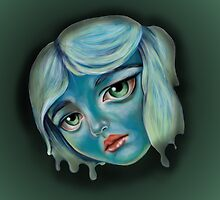 Blue Faced Girl by Kristin Frenzel