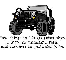 Jeep, Unmarked Path Photographic Print