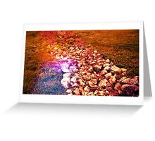 Blood Red Stone Greeting Card