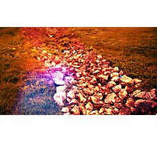 Blood Red Stone Photographic Print