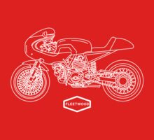 Retro Café Racer Bike - White Kids Clothes