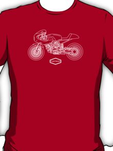 Retro Café Racer Bike - White T-Shirt