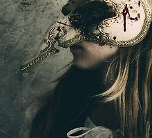 Gothic Girl Wearing Mask  by Kim-maree Clark
