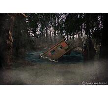 Sinking Train Photographic Print