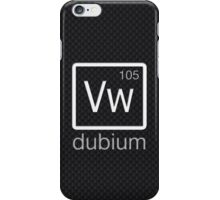dubium (white) iPhone Case/Skin