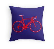 Bike Pop Art (Red & Pink) Throw Pillow