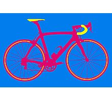 Bike Pop Art (Pink & Yellow) Photographic Print