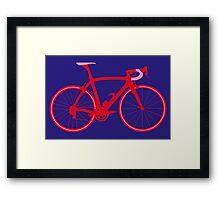 Bike Pop Art (Red & Pink) Framed Print