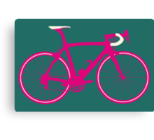 Bike Pop Art (Pink & White) Canvas Print