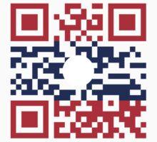 I Love Laos (Khoy Huk Lao) Flag QR Code / Lao Geek by iloveisaan