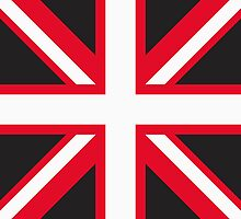 Union Jack Pop Art (White, Red & Black) by sher00