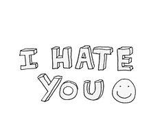 i hate you Photographic Print