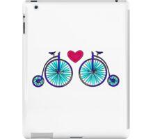 New age vintage bike blue love iPad Case/Skin