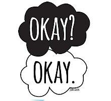 Okay? Okay Cloud Design Photographic Print