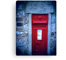village post box Canvas Print
