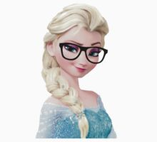 Frozen Elsa Geeky Glasses Retro Nerd Hipster Disney Princess Art by dollyforsue