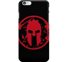 SPARTAN-SHIRT-BIG-RED iPhone Case/Skin