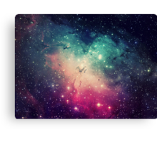 Pink Turquoise Galaxy Canvas Print