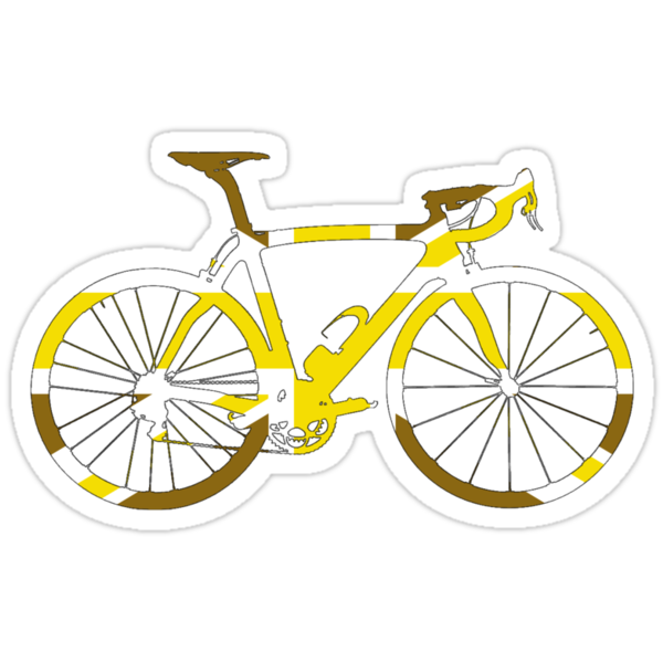 Bike Flag United Kingdom (Gold - Big) by sher00