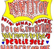 dont stop lyric drawing by artbyeilidh