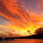 Skyscape at Dawn - Le Tahaa Island by Honor Kyne